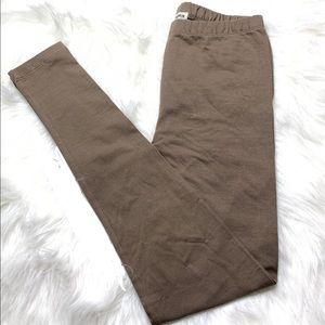Zenana Large Full Length Khaki Color leggi…